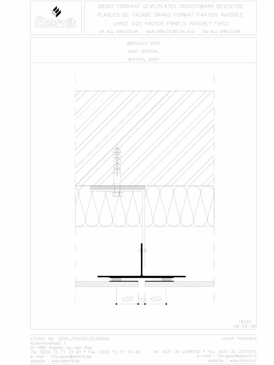 Pagina 1 - CAD-DWG Placa de fibrociment lipita pe structura din aluminiu - Rost vertical EQUITONE...