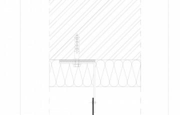 Placa de fibrociment lipita pe structura din aluminiu - Rost vertical EQUITONE