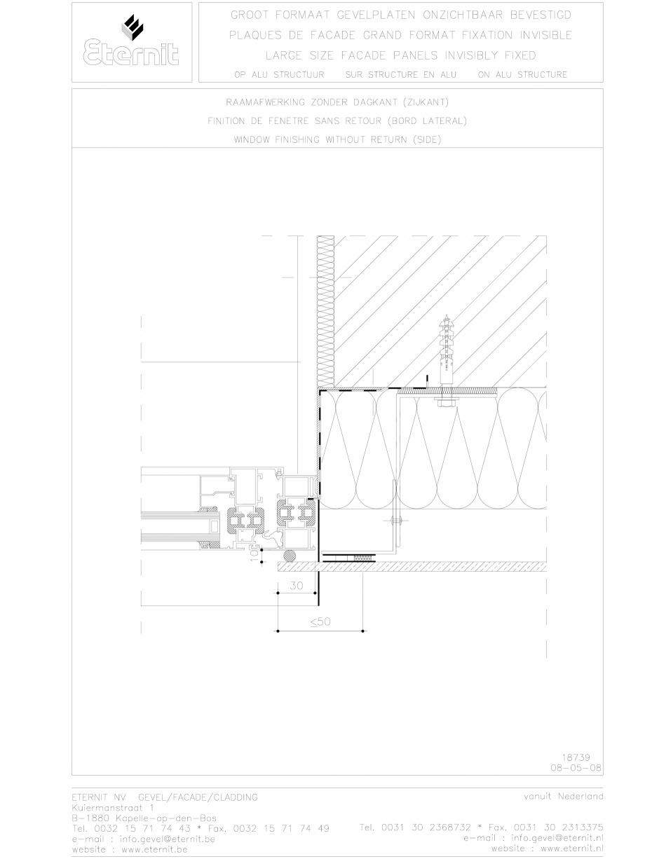Pagina 1 - CAD-DWG Placa de fibrociment lipita pe structura din aluminiu - detaliu parte laterala...