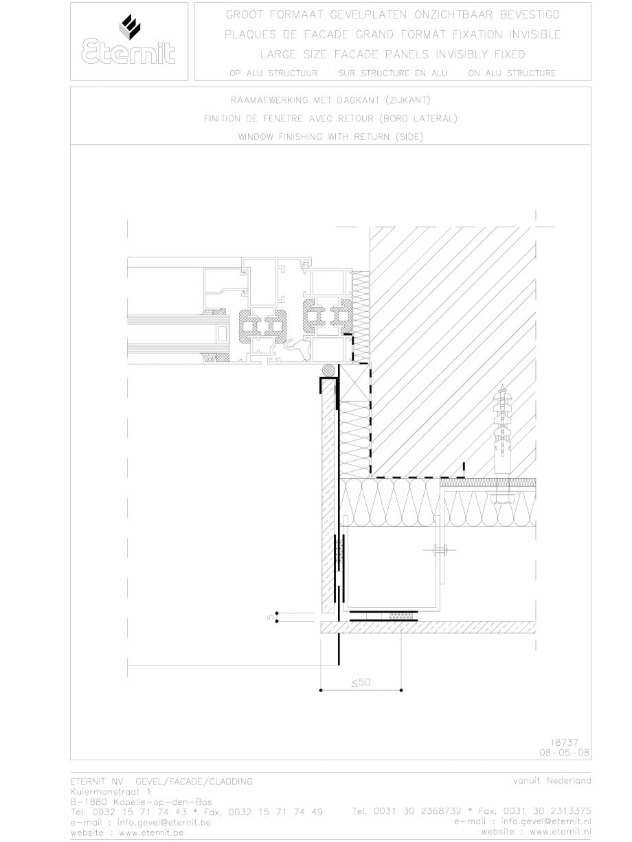 Pagina 1 - CAD-DWG Placa de fibrociment lipita pe structura din aluminiu - partea laterala EQUITONE ...