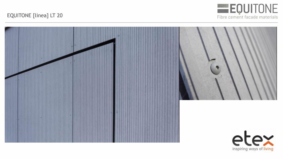 Pagina 14 - Fatada ventilata din fibrociment EQUITONE [linea] [linea] Catalog, brosura Engleza