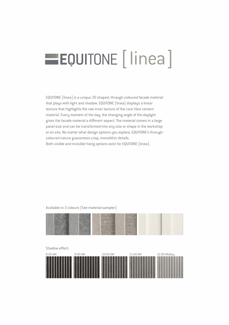 Pagina 8 - EQUITONE fatade ventilate din fibrociment - Prezentare materiale EQUITONE [linea] [linea]...