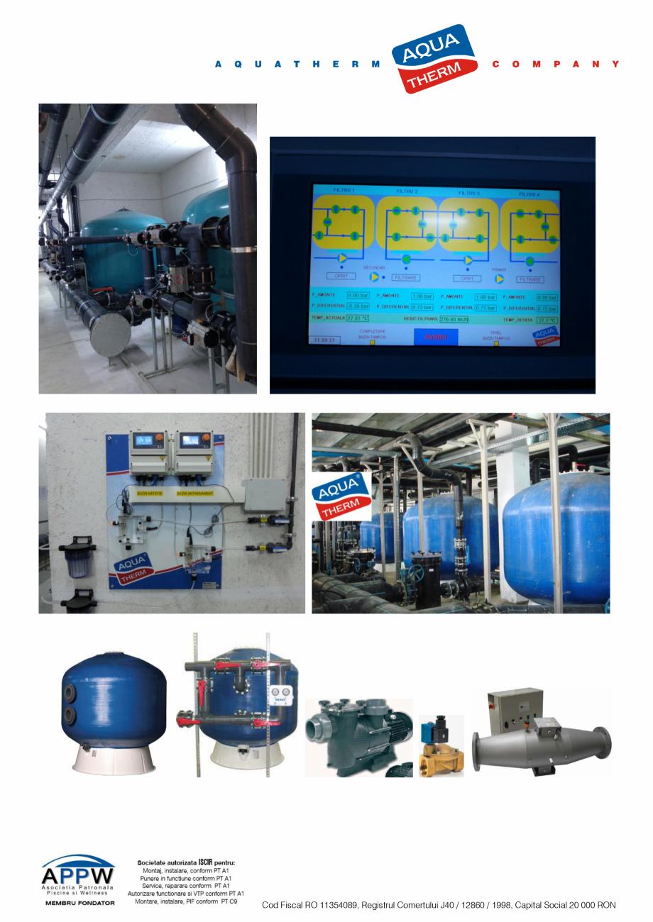 Pagina 3 - Prezentare Aqua Therm Co, 2016  Catalog, brosura Romana te si materiale, asistenta...