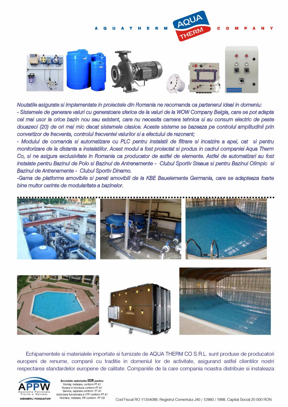 Pagina 4 - Prezentare Aqua Therm Co, 2016  Catalog, brosura Romana scina complex rezidential...