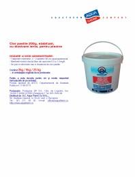 Clor pastile 200g, stabilizat, cu dizolvare lenta, pentru piscine