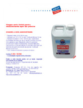 Oxigen activ lichid pentru dezinfectarea apei din piscine QUIMICAMP