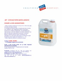 pH - (minus) lichid pentru piscine