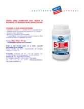 Pastile 200g multifunctii (clor, algicid si floculant),cu dizolvare lenta,pentru piscine QUIMICAMP