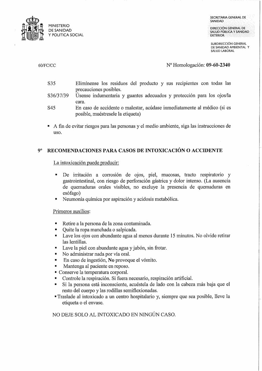 Certificare produs Decizie de omologare OXIGEN ACTIV PUDRA QUIMICAMP Substante pentru tratarea apei din piscine AQUA THERM CO  - Pagina 2