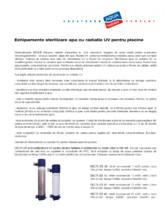 Sterilizatoare UV pentru piscine BIO-UV
