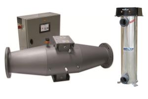 Sterilizatoare cu radiatie UV pentru piscine Sterilizatoarele BIO-UV folosesc radiatie ultravioleta la 254 nanometri, lungime de unda ideala pentru eradicarea microorganismelor  (virusuri, bacterii, alge) din apa.