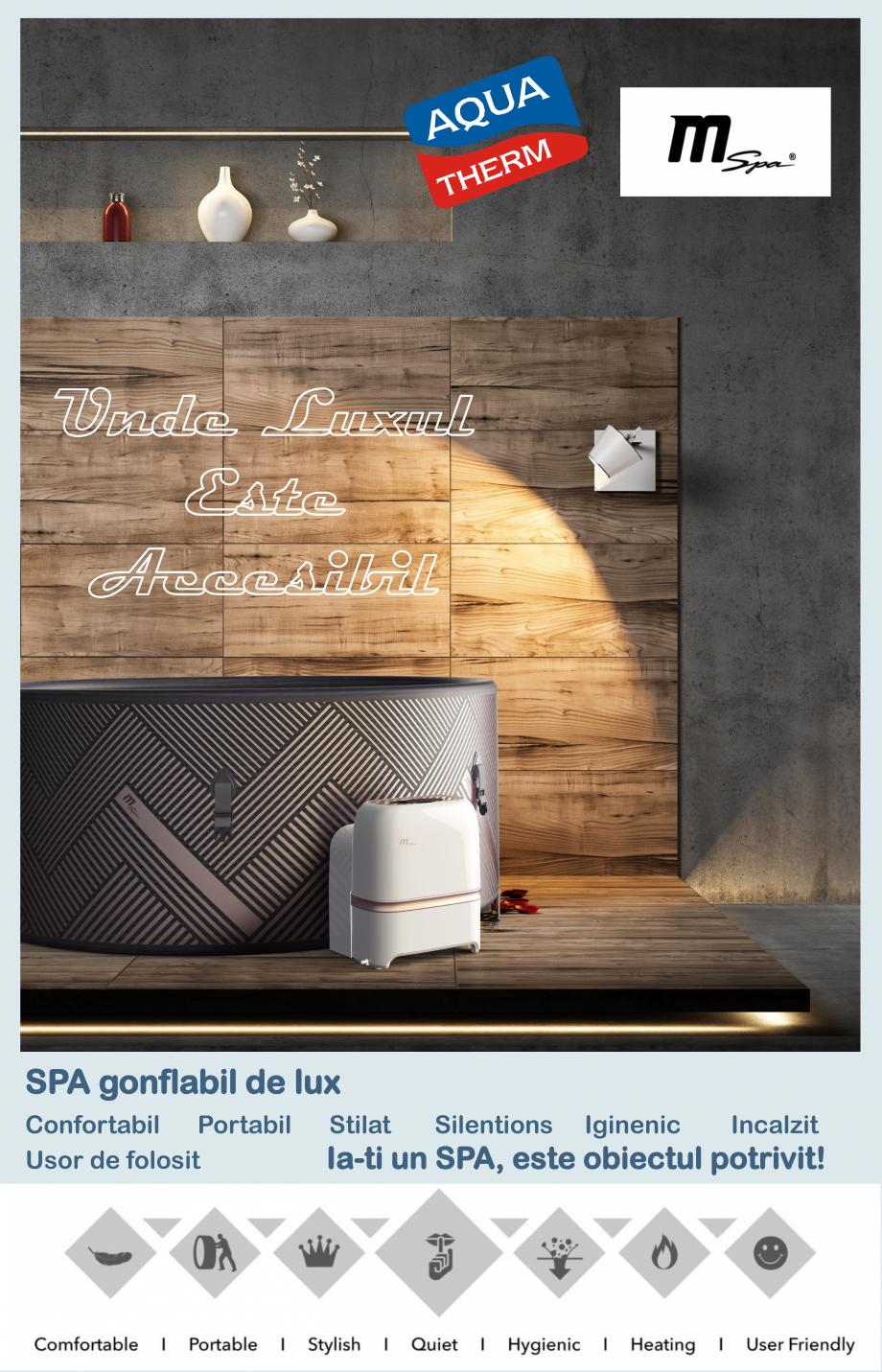 Pagina 1 - Catalog prezentare spa-uri gonflabile AQUA THERM ALPINE SQUARE D-AL06, CONCEPT MONO,...
