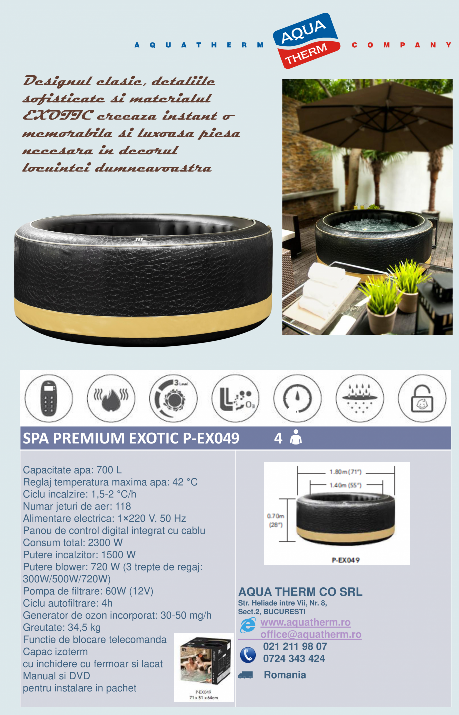 Pagina 3 - Catalog prezentare spa-uri gonflabile AQUA THERM ALPINE SQUARE D-AL06, CONCEPT MONO,...