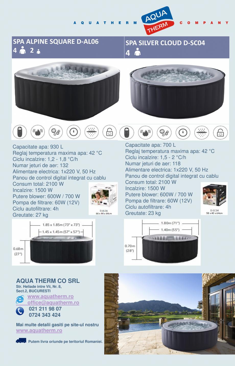 Pagina 4 - Catalog prezentare spa-uri gonflabile AQUA THERM ALPINE SQUARE D-AL06, CONCEPT MONO,...
