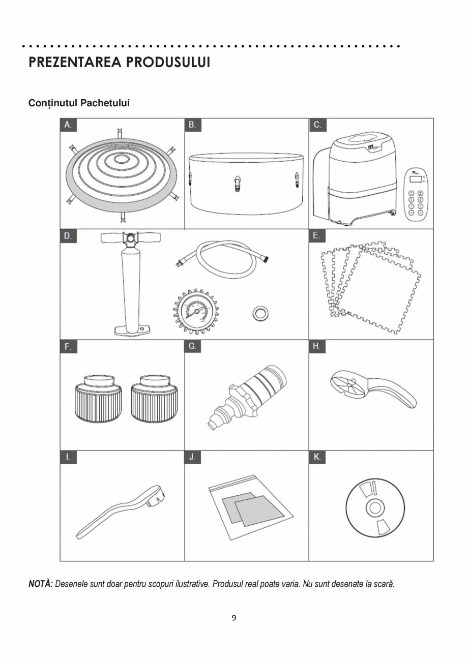 Pagina 9 - Manualul utilizatorului - Spa-uri gonflabile AQUA THERM CONCEPT MONO Instructiuni montaj,...