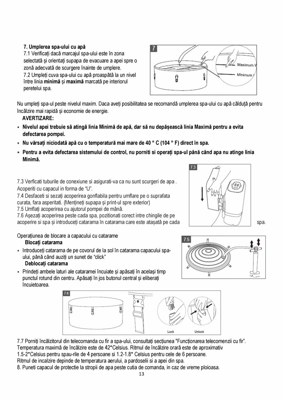 Pagina 13 - Manualul utilizatorului - Spa-uri gonflabile AQUA THERM CONCEPT MONO Instructiuni montaj...