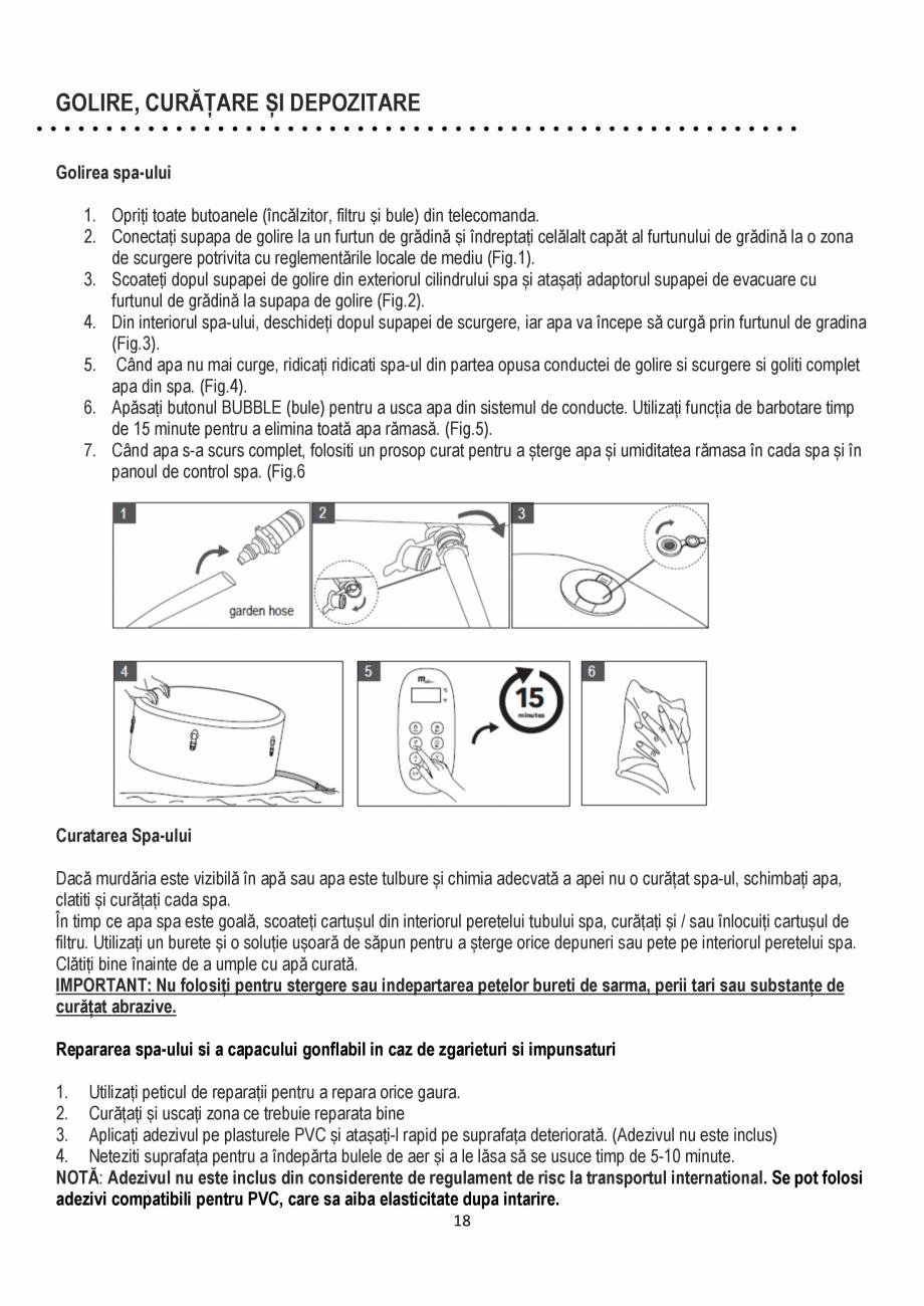 Pagina 18 - Manualul utilizatorului - Spa-uri gonflabile AQUA THERM CONCEPT MONO Instructiuni montaj...