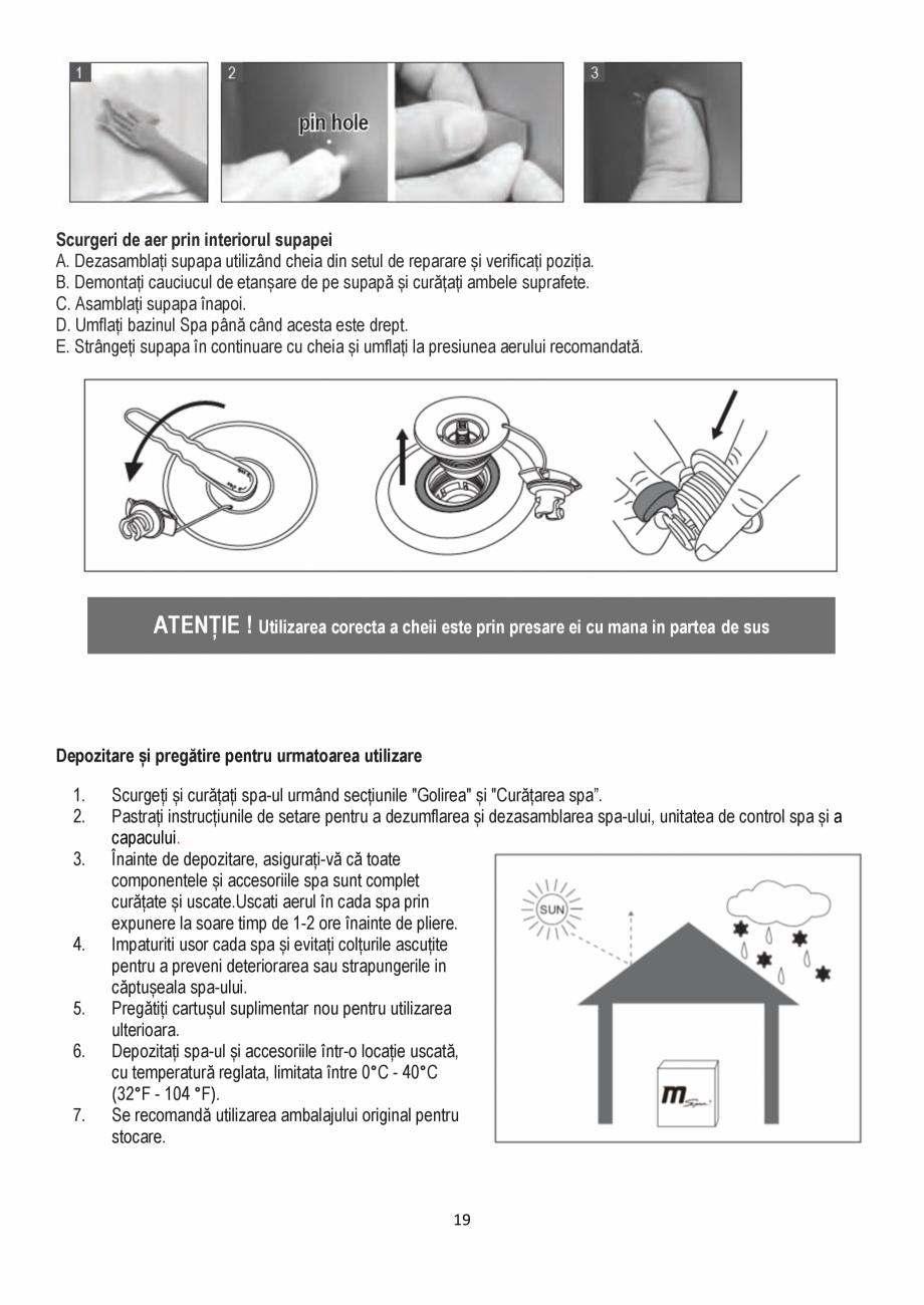 Pagina 19 - Manualul utilizatorului - Spa-uri gonflabile AQUA THERM CONCEPT MONO Instructiuni montaj...