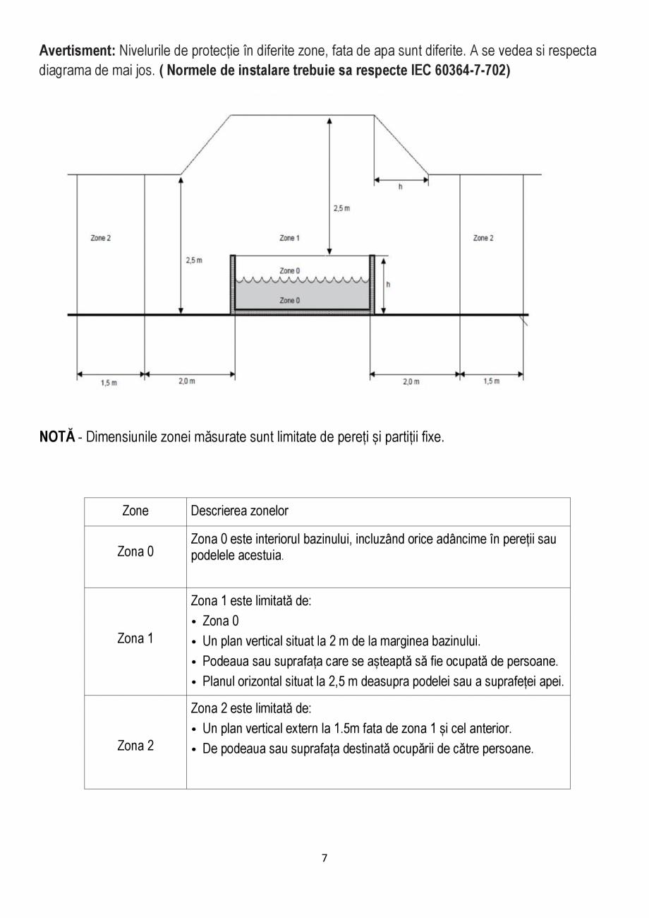 Pagina 7 - Manualul utilizatorului - Spa-uri gonflabile AQUA THERM ALPINE SQUARE D-AL06, SILVER...