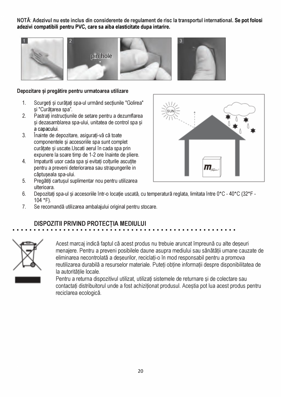 Pagina 20 - Manualul utilizatorului - Spa-uri gonflabile AQUA THERM ALPINE SQUARE D-AL06, SILVER...
