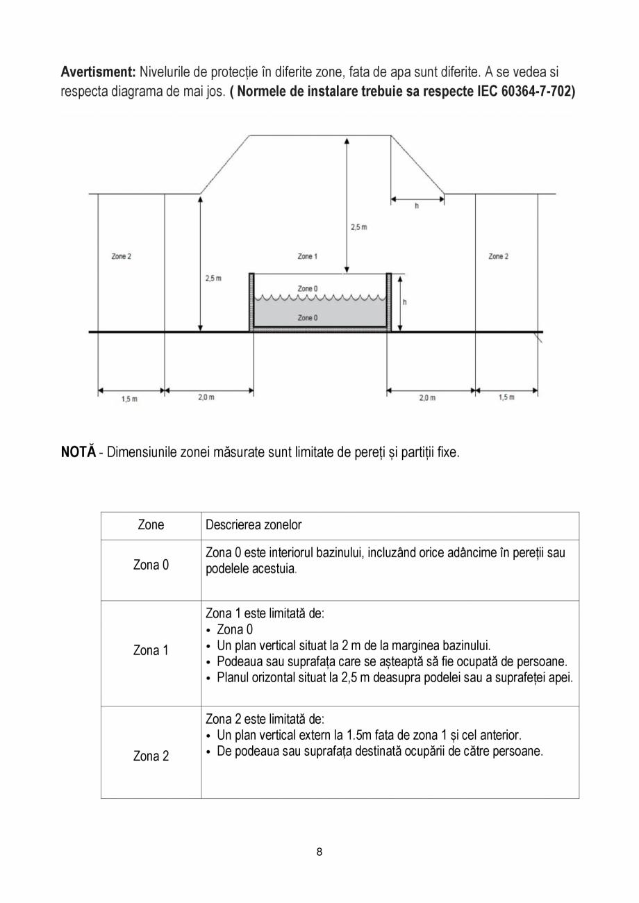 Pagina 8 - Manualul utilizatorului - Spa-uri gonflabile AQUA THERM PREMIUM EXOTIC P-EX049...