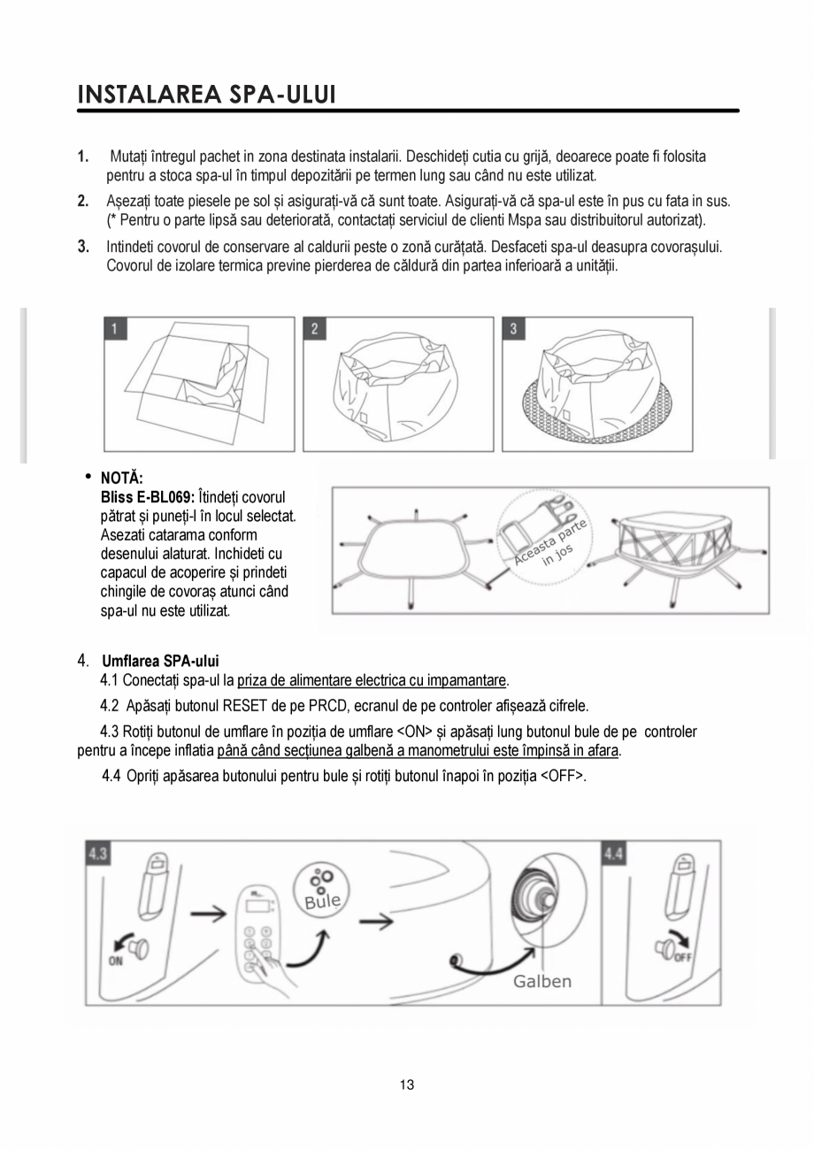 Pagina 13 - Manualul utilizatorului - Spa-uri gonflabile AQUA THERM PREMIUM EXOTIC P-EX049...
