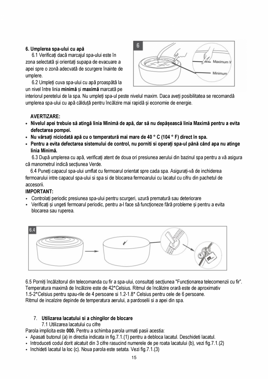 Pagina 15 - Manualul utilizatorului - Spa-uri gonflabile AQUA THERM PREMIUM EXOTIC P-EX049...