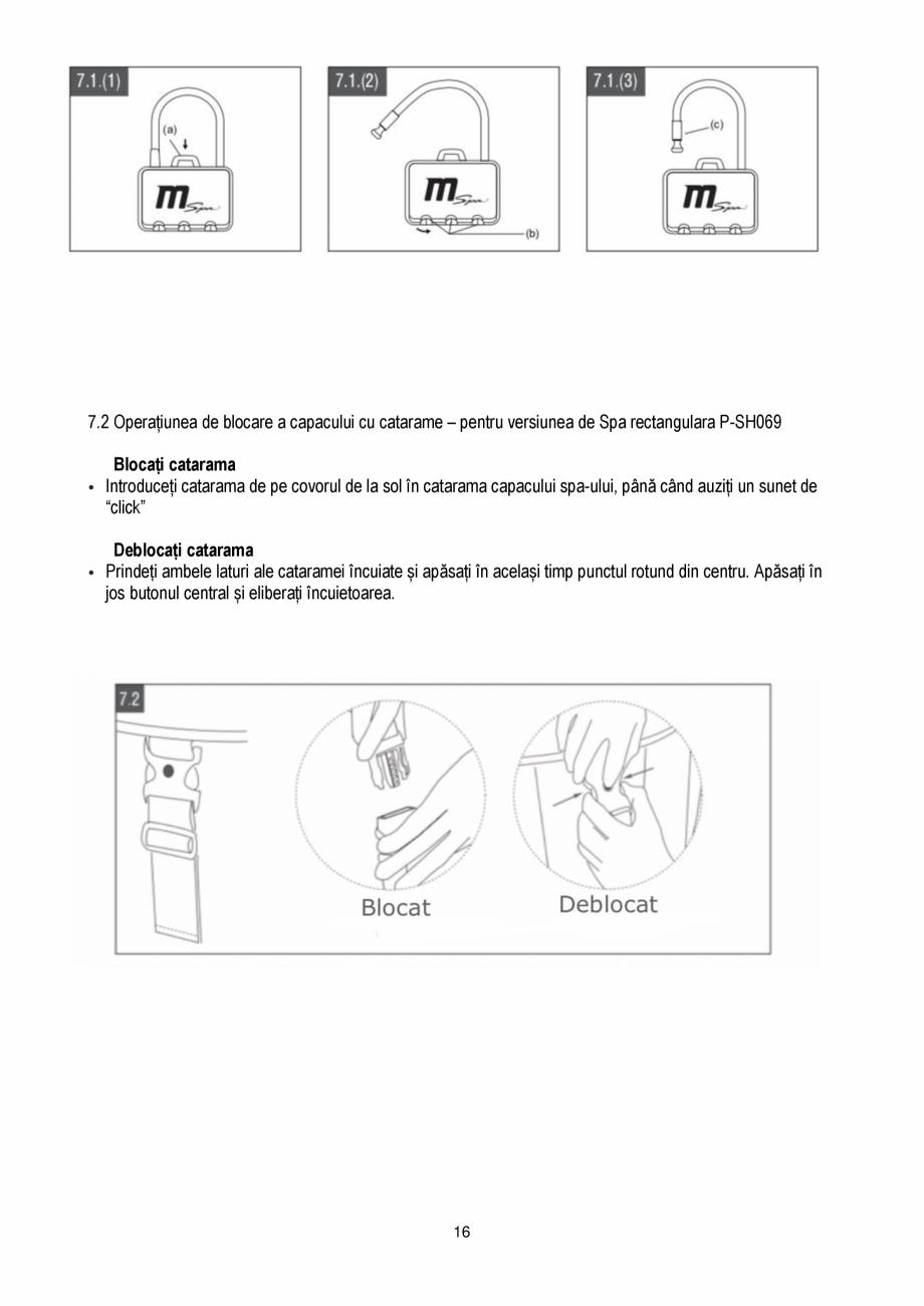 Pagina 16 - Manualul utilizatorului - Spa-uri gonflabile AQUA THERM PREMIUM EXOTIC P-EX049...