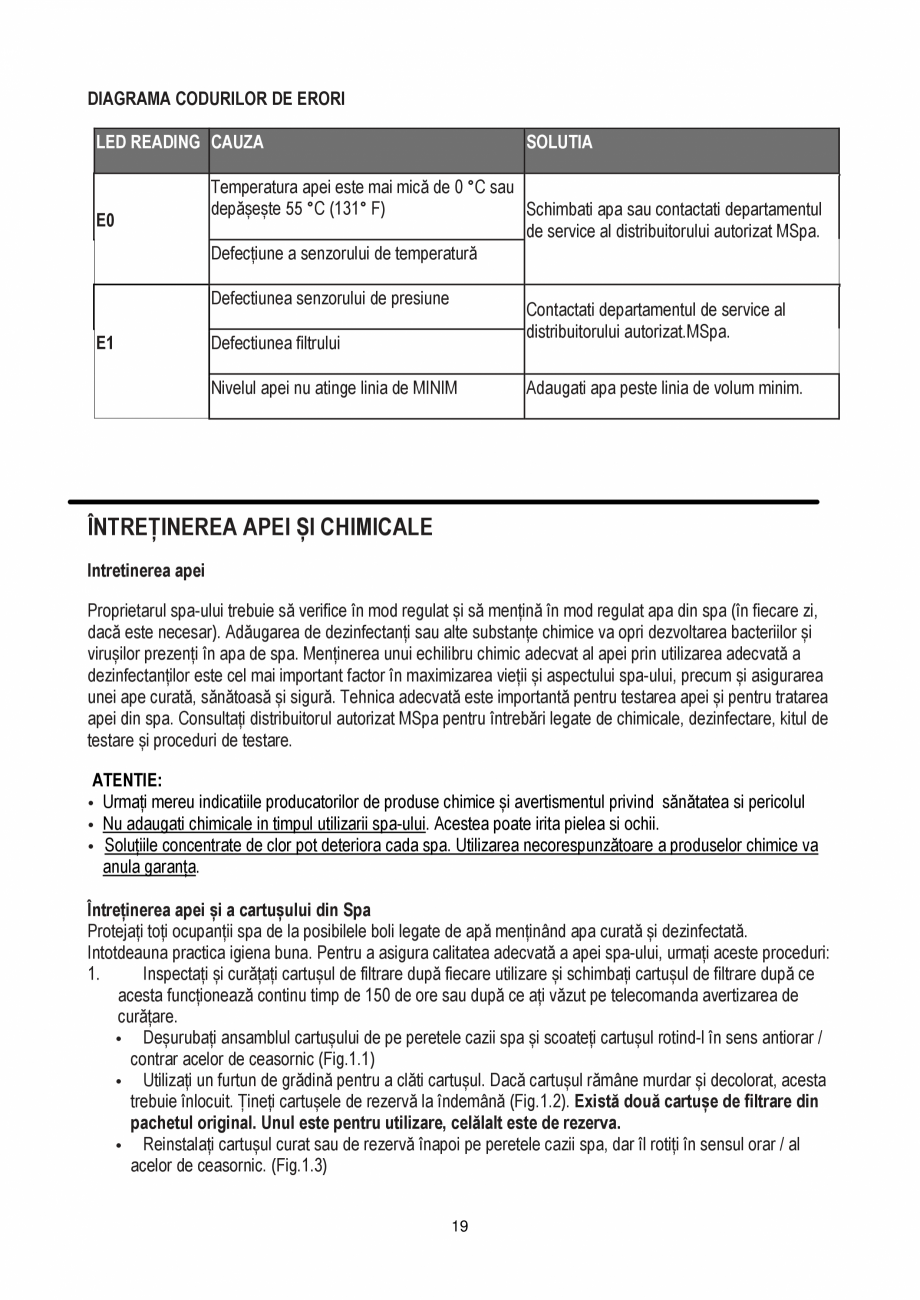 Pagina 19 - Manualul utilizatorului - Spa-uri gonflabile AQUA THERM PREMIUM EXOTIC P-EX049...