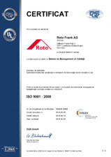 Certificat ISO 9001 - valabil 14.09.2018 ROTO
