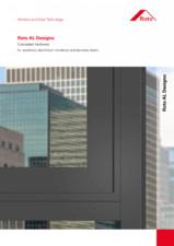Feronerie ascunsa pentru ferestre si usi de balcon estetice din aluminiu ROTO