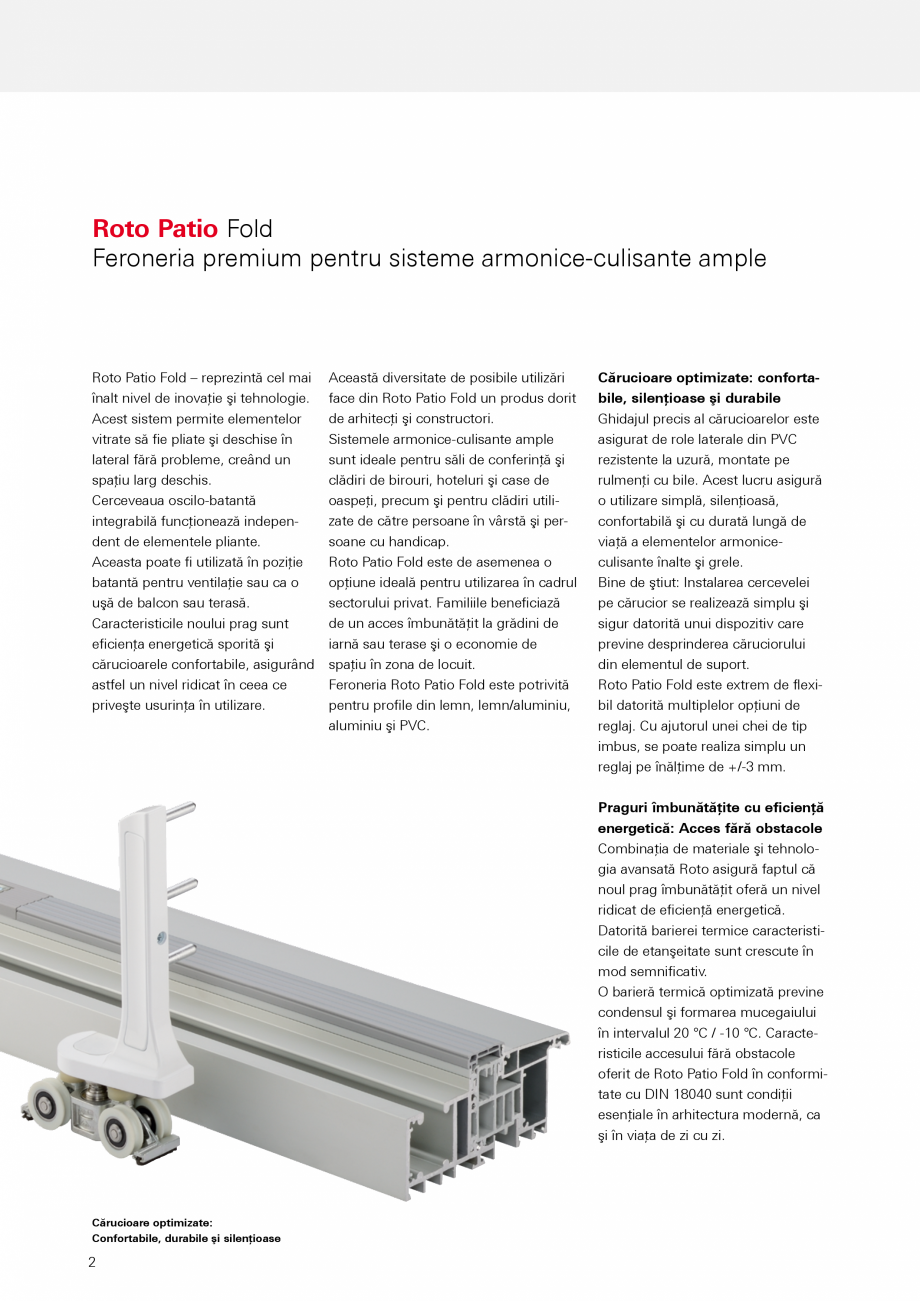 catalog brosura feronerie premium pentru sisteme armonice