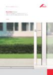 Feronerie universala pentru minimum de efort la sistemele culisante in plan paralel si batant-culisante / Mecanisme pentru ferestre si usi din lemn / ROTO ROMANIA