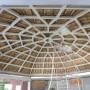 Cupola lemn - izolatie cu spuma poliuretanica
