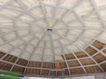 Izolatii spuma poliuretanica cupole lemn / Izolatie-spuma-poliuretanica-cupola-lemn-10