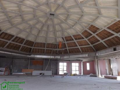 Izolatii spuma poliuretanica cupole lemn / Izolatie-spuma-poliuretanica-cupola-lemn-11