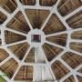 Detaliu - Izolatie cu spuma poliuretanica - cupola lemn
