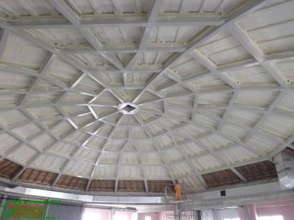 Izolatii spuma poliuretanica cupole lemn / Izolatie-spuma-poliuretanica-cupola-lemn-15