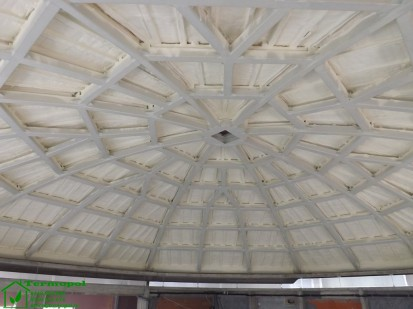 Izolatii spuma poliuretanica cupole lemn / Izolatie-spuma-poliuretanica-cupola-lemn-20
