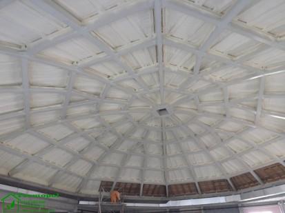 Izolatii spuma poliuretanica cupole lemn / Izolatie-spuma-poliuretanica-cupola-lemn-17