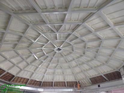 Izolatii spuma poliuretanica cupole lemn / Izolatie-spuma-poliuretanica-cupola-lemn-19