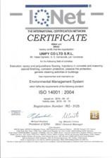 Certificat - IQNet ISO 14001-2004