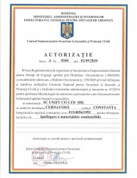 Autorizatie - ignifugare a materialelor combustibile - Unify