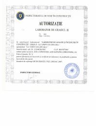 Autorizatie Laborator Grad II Nr 2909