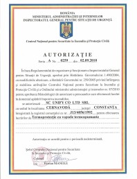 Autorizatie termoprotectie cu vopsele termospumante Unify