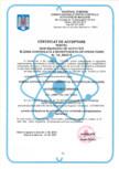 Certificat de acceptare pt. desfasurarea activitatii in zona controlata a intreprinderilor operatoare