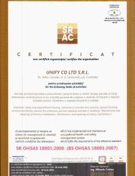 CERTIFICATE SRAC OHSAS180012008