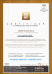 CERTIFICATE SRAC ISO 9001 2015�