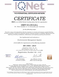 Certificat IQNET-Environmental system 14001:2015