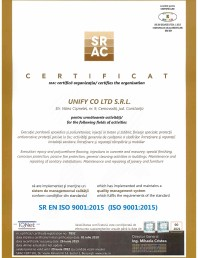 Certificat SRAC- ISO 9001:2015